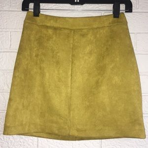 Suede mini skirt size S